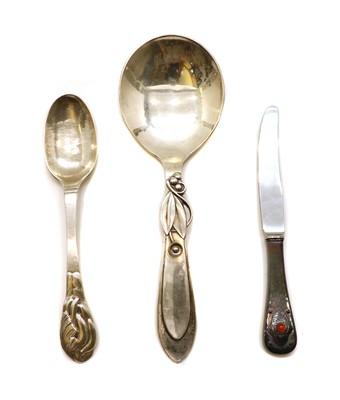 Lot 29 - A Georg Jensen silver knife