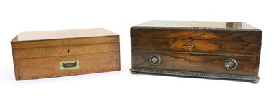 Lot 40 - An oak cased canteen of silver plated cutlery