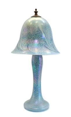 Lot 80 - An iridescent studio glass table lamp