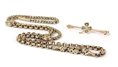Lot 1047 - A gold fancy link chain