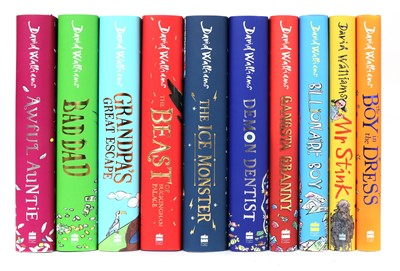 Lot 36 - A collection of ten signed David Walliams books