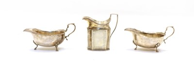 Lot 40 - A George III silver cream jug