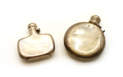 Lot 6 - A silver hip flask