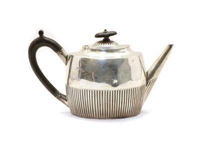 Lot 49 - A Victorian silver teapot
