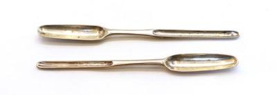 Lot 42 - A George II silver marrow scoop