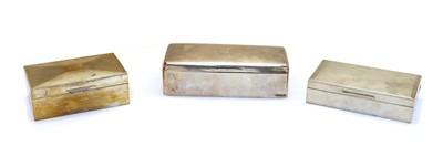 Lot 55 - An Edwardian silver cigarette box
