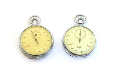 Lot 48 - Two chrome-plated stopwatches