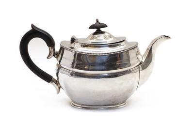 Lot 45 - A 20th century silver teapot