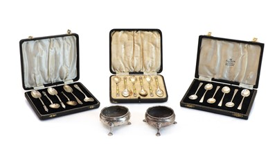 Lot 34 - A set of six silver coffee spoons