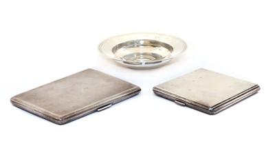 Lot 4 - A Garrard & Co silver cigarette case of rectangular form