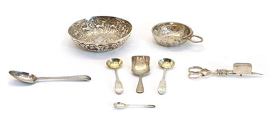 Lot 56 - A collection of silver and silver plated items