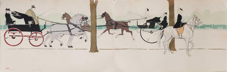 Lot 4 - Marie Joseph Georges Goursat ('Sem') (French, 1863-1934)