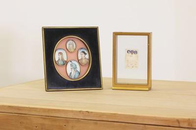 Lot 500 - Four Indian portrait miniatures