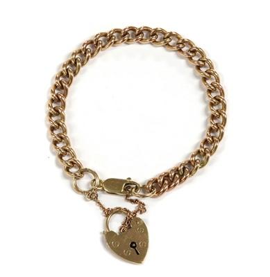 Lot 1103 - A 9ct gold curb bracelet