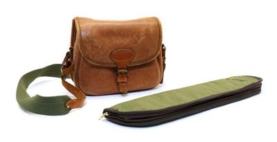 Lot 75 - A leather 100 cartridge bag