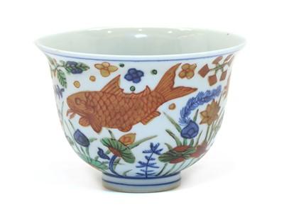 Lot 94 - A Chinese wucai bowl
