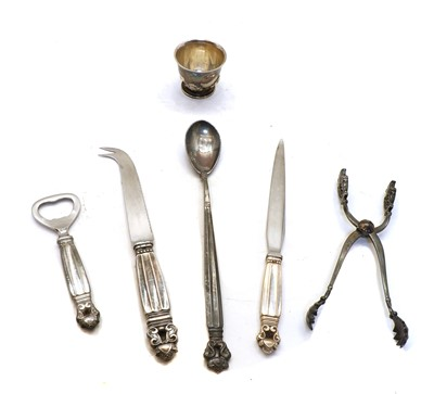 Lot 24 - A collection of Georg Jensen 'Acorn' pattern items