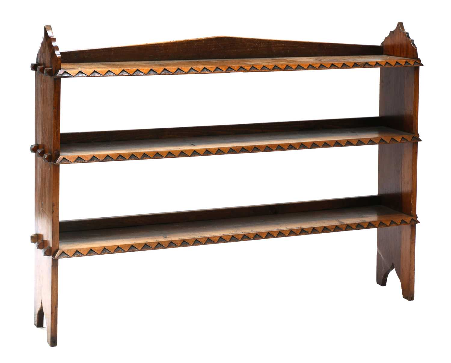 Lot 32 - A Gothic Revival pitch pine bookcase