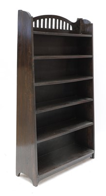Lot 91 - An Arts and Crafts stained oak bookcase