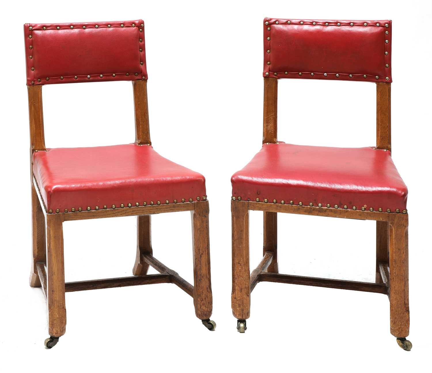 Lot 29 - A pair of Reformed Gothic oak side chairs