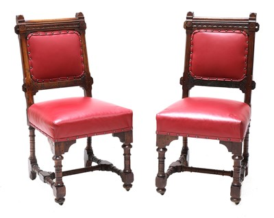 Lot 30 - A pair of Gothic Revival chairs