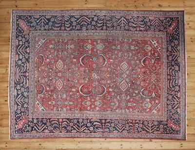 Lot 38 - A Persian wool Mahal carpet