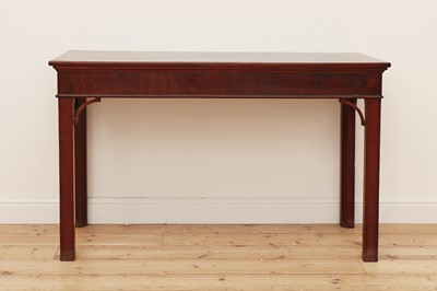 Lot 75 - A George III mahogany side or serving table