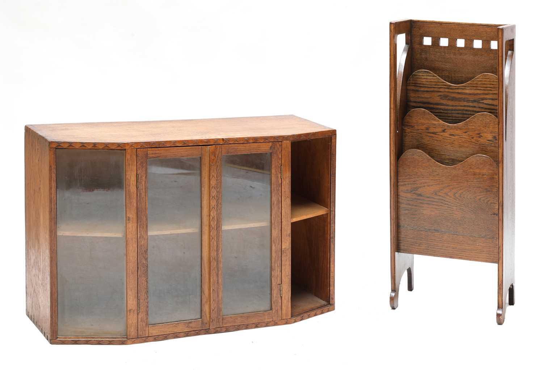 Lot 89 - A Cotswold School glazed oak bookcase