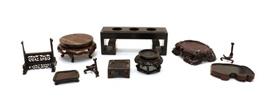 Lot 91A - A collection of Chinese wood stands