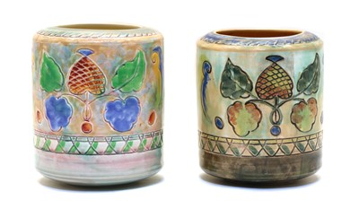 Lot 69 - Two Royal Doulton 'Leaf & Berry' pattern vases