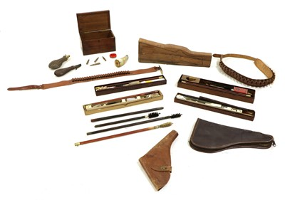 Lot 77 - Four gun cleaning kits and accessories
