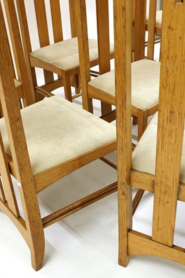 Lot 62 - A set of eight high-backed 'Ingram' oak dining chairs