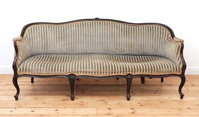 Lot 61 - A George III-style mahogany settee