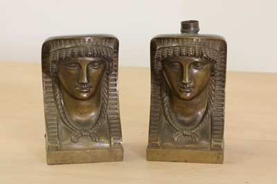 Lot 52 - A pair of Egyptian-style bronze furniture mounts