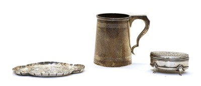 Lot 27 - A silver mug