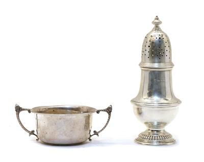 Lot 31 - A silver sugar caster