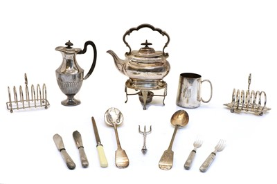 Lot 39 - A collection of silver plated items