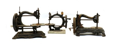 Lot 87 - Three old sewing machines