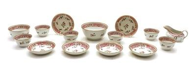 Lot 70 - A part 18th century porcelain part tea service