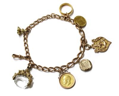Lot 1097 - A 9ct gold curb link bracelet