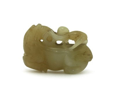 Lot 80 - A Chinese jade carving