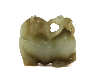 Lot 81 - A Chinese jade carving