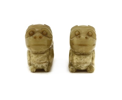 Lot 88 - A pair of Chinese jade carvings
