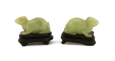 Lot 82 - A pair of Chinese jade carvings