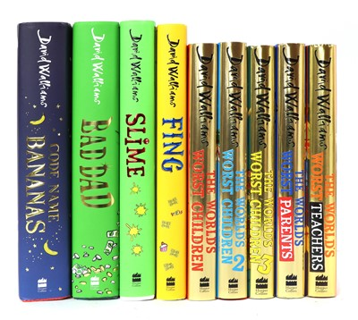 Lot 37 - A collection of nine signed David Walliams books
