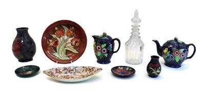 Lot 97 - A Moorcroft 'Finches' pattern pottery vase