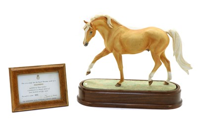 Lot 85 - A Royal Worcester limited edition model of a Palomino