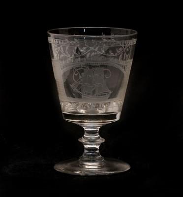 Lot 100 - A late Regency Sunderland Bridge glass rummer