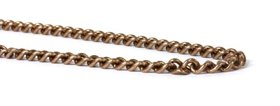 Lot 79 - A 9ct gold curb link necklace