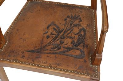 Lot 3 - A pair of Art Nouveau walnut armchairs
